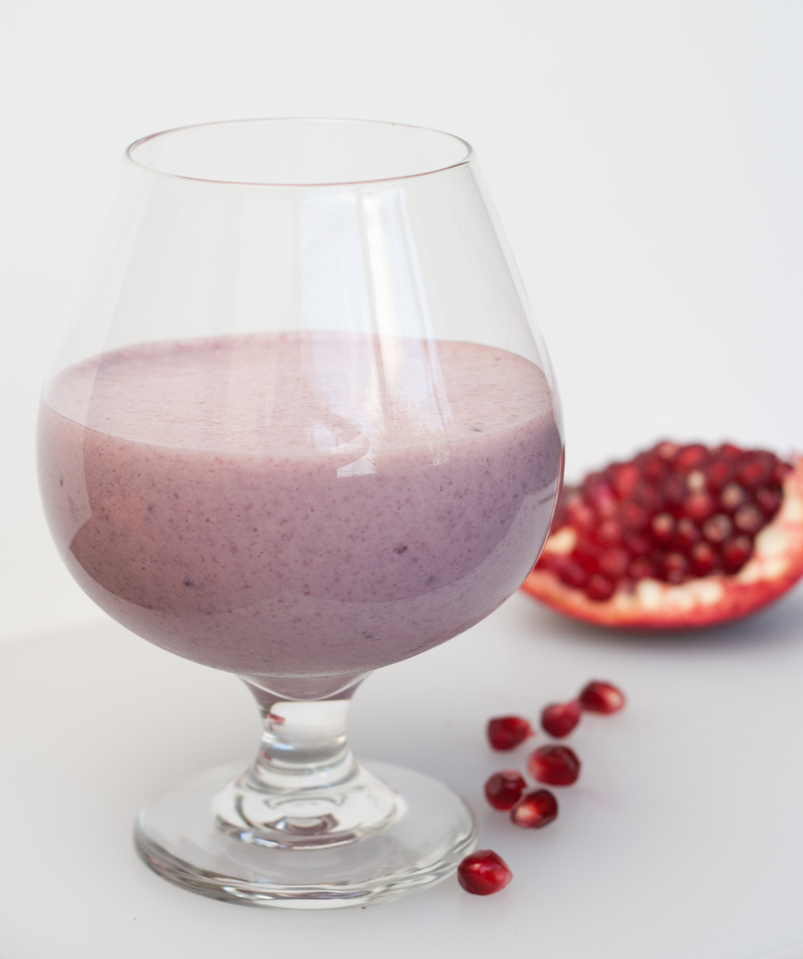 Pomegranate Cherry Smoothie | The Road Not Processed