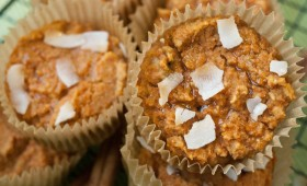 Gluten-Free Sweet Potato, Carrot, and Ginger Juice Pulp Muffins (vgn)