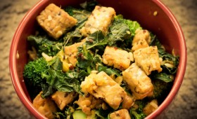 Orange Soy Tempeh Stir-fry