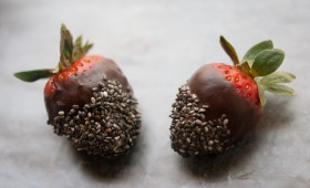 Raw Chocolate Chia Covered Strawberries